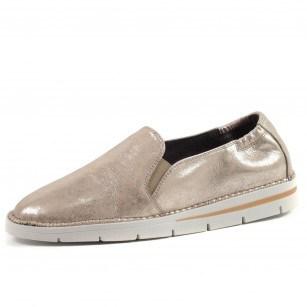 Дамски обувки от естествена кожа Hispanitas златисти