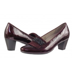 Дамски обувки на ток естествена кожа Ara бордо