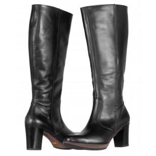 Дамски ботуши от естествена кожа на ток Ara Dynergy черни