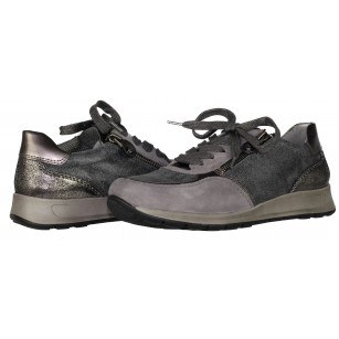 Дамски анатомични спортни обувки Ara сиви/металик