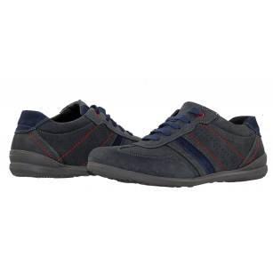 Мъжки ежедневни обувки Bulldozer естествена кожа сини