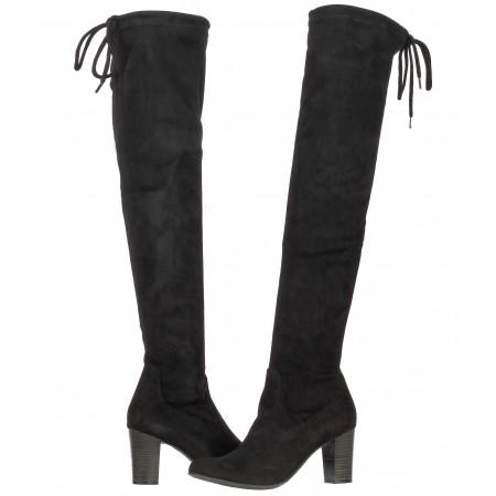 Дамски ботуши чизми на ток Caprice черни