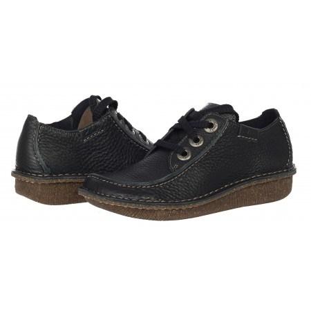 Дамски обувки естествена кожа Clarks Funny Dream черни с връзки