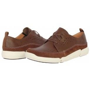 Мъжки кожени обувки с връзки Clarks Trifri Lace кафяви