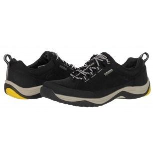 Мъжки обувки с връзки естествена кожа Clarks Baystonerungtx черни GORE TEX
