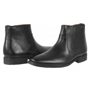 Мъжки боти от естествена кожа Clarks Tilden Zip черни Ortholite®