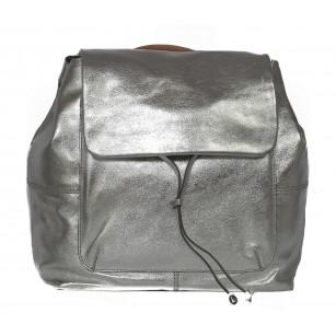 Дамска стилна чанта от естествена кожа Clarks Totterdown Bay сребриста