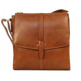Дамска малка чанта  естествена кожа Clarks Тouch Modern кафява