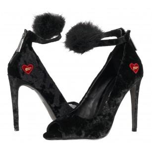 Дамски елегантни обувки на висок ток Fornarina черни