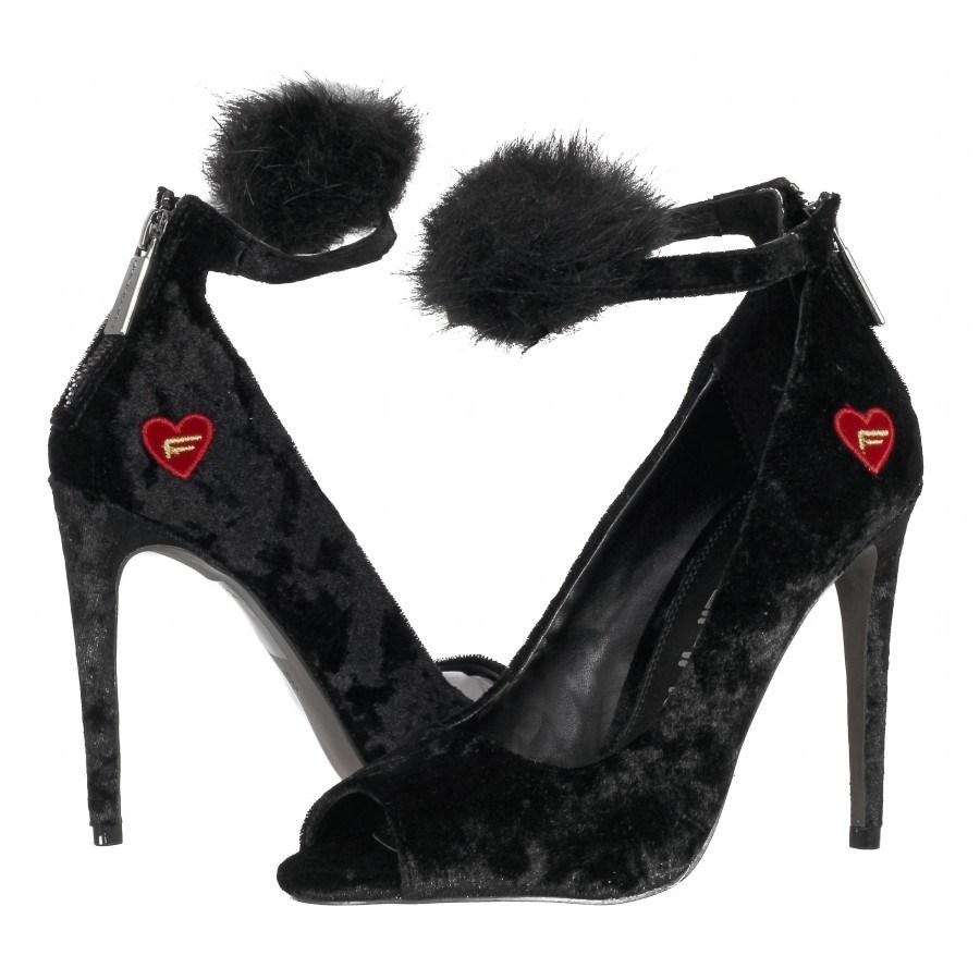 f257266117f ✓ Дамски елегантни обувки на висок ток Fornarina черни — Компас