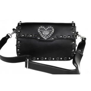 Дамска чанта през тяло Fornarina черна