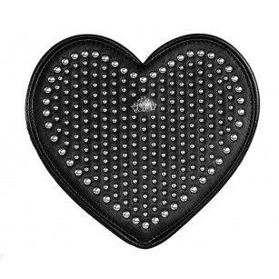 """Дамска чанта през тяло """"сърце"""" Fornarina черна Heart"""