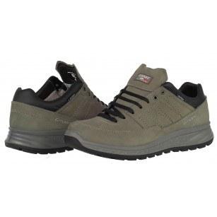 Мъжки ежедневни обувки Grisport АCTIVE зелени/сиви естествена кожа GriTex®