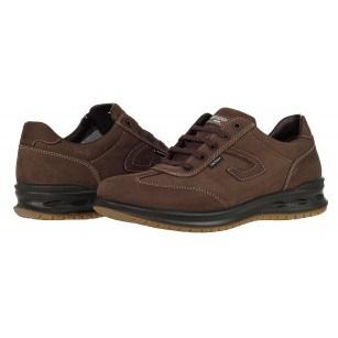 Мъжки кожени обувки Grisport АCTIVE тъмно кафяви GriTex®