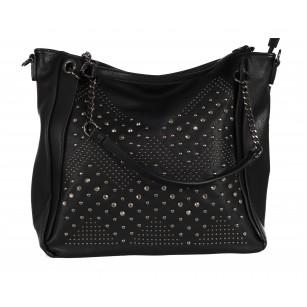 Дамска чанта с капси Marina Galanti черна