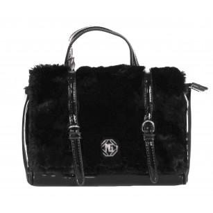 Дамска малка чанта Marina Galanti черен лак