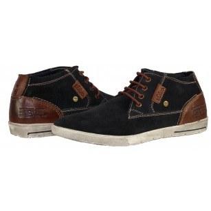 Мъжки спортни обувки естествена кожа S.Oliver сини