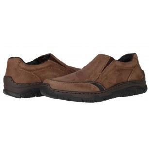 Мъжки ежедневни обувки Rieker естествена кожа кафяви