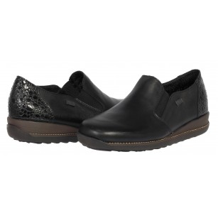 Дамски ежедневни  обувки Rieker ANTISTRESS  естествена кожа черни 44264/00