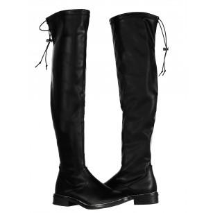 Дамски ботуши чизми S.Oliver черни