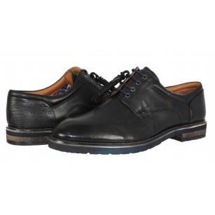Мъжки кожени обувки с връзки Salamander черни
