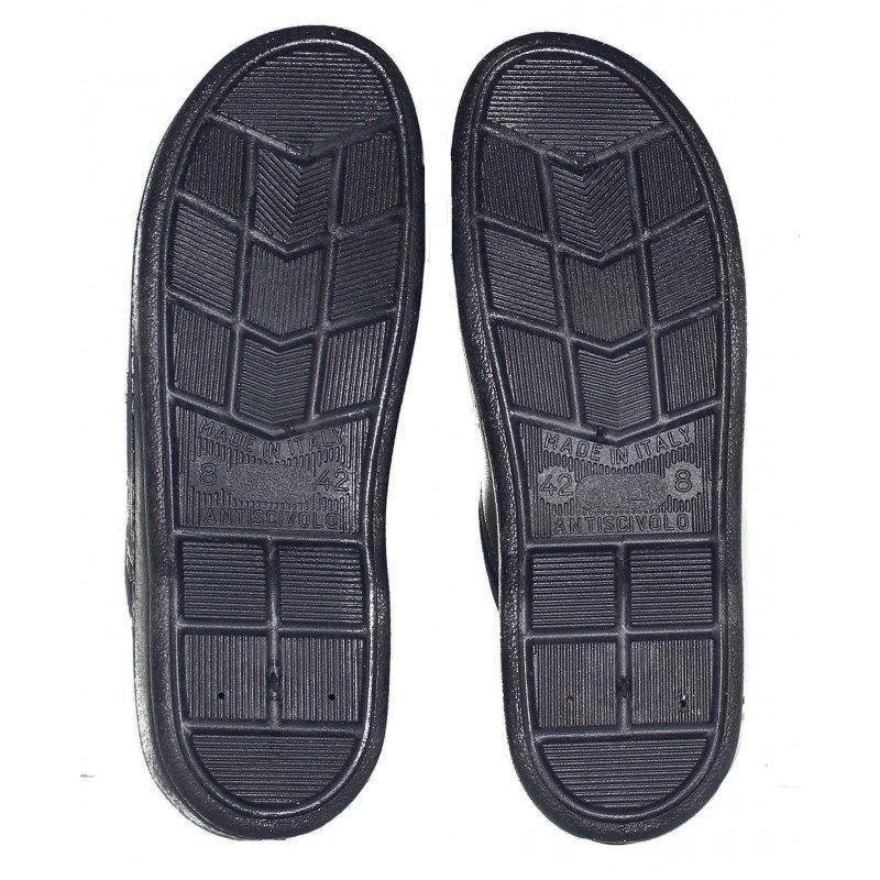 Мъжки сини медицински чехли сабо от естествена кожа Spesita