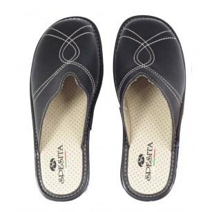 Дамски анатомични домашни чехли Spesita черни