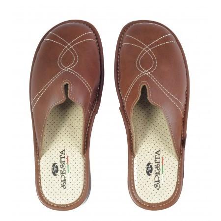 Дамски домашни чехли Spesita кафяви