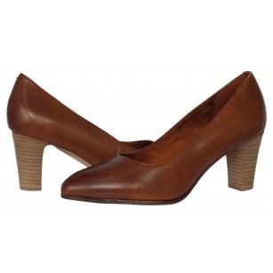 Дамски елегнатни обувки Tamaris естествена кожа  кафяви