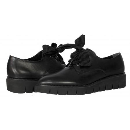 Дамски  обувки Tamaris мемори пяна естествена кожа черни