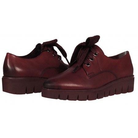 Дамски обувки Tamaris мемори пяна естествена кожа бордо