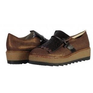 Дамски обувки на платформа бронзови Tamaris мемори пяна