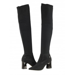 Дамски черни ботуши Тamaris тип чорап