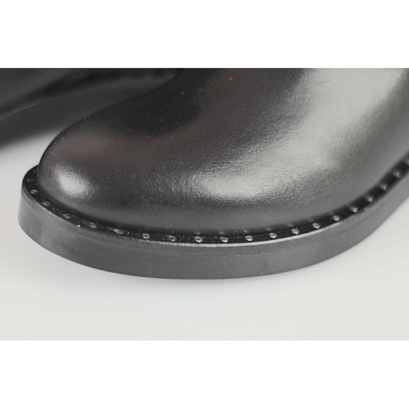 Дамски равни ботуши от естествена кожа Tamaris черни