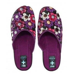 Дамски домашни чехли Adanex лилави BIO
