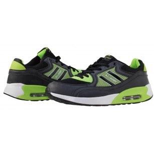 Мъжки маратонки Bulldozer черни/зелени