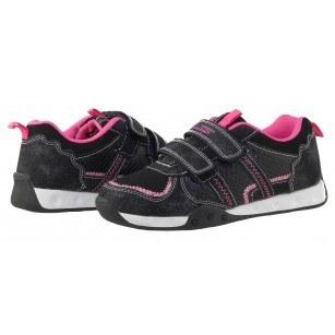 Детски маратонки с връзки черни-розови Bulldozer 31-35