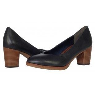 Дамски класически обувки на среден ток Marco Tozzi мемори пяна сини