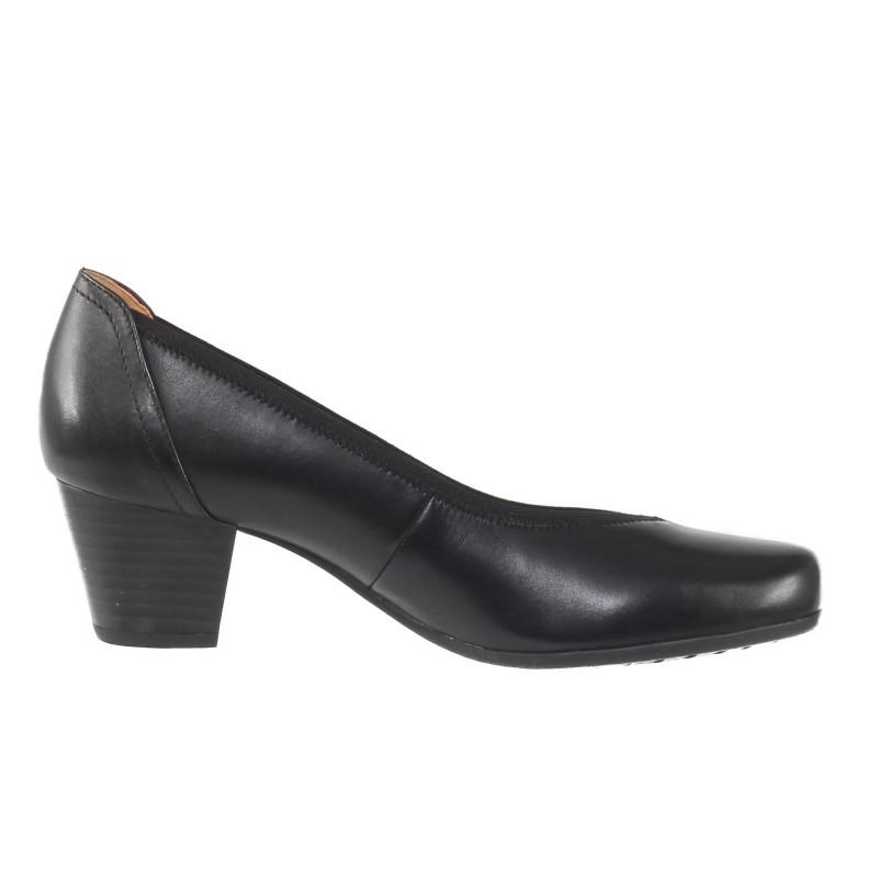 Дамски обувки на ток естествена кожа Caprice ширина H