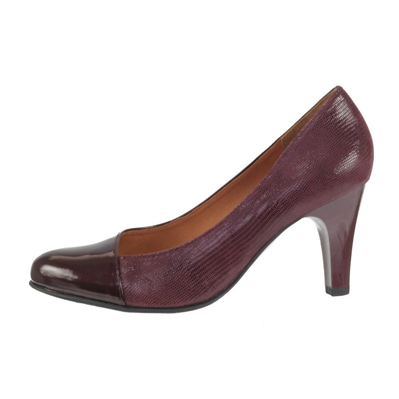 Дамски елегантни обувки Caprice естествена кожа бордо