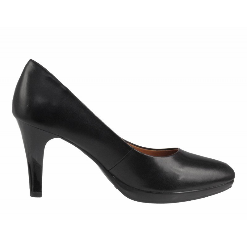 Елегантни дамски обувки на висок ток Caprice черни