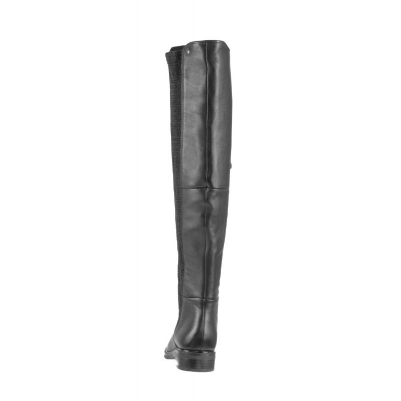 Елегантни дамски ботуши Caprice естествена кожа черни
