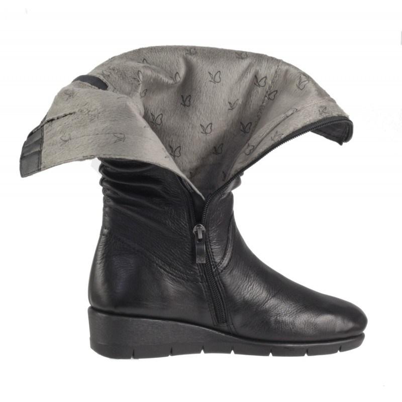 Дамски ботуши на платформа Caprice естествена кожа