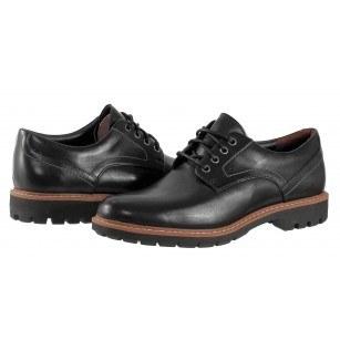 Мъжки обувки от естествена кожа Clarks Batcombe Hall черни