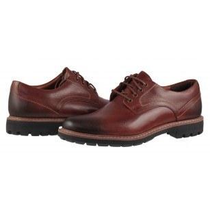 Мъжки обувки от естествена кожа Clarks Batcombe Hall кафяви
