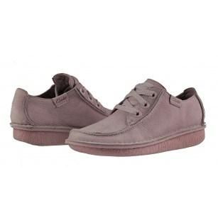 Дамски обувки естествена кожа Clarks Funny Dream розови с връзки