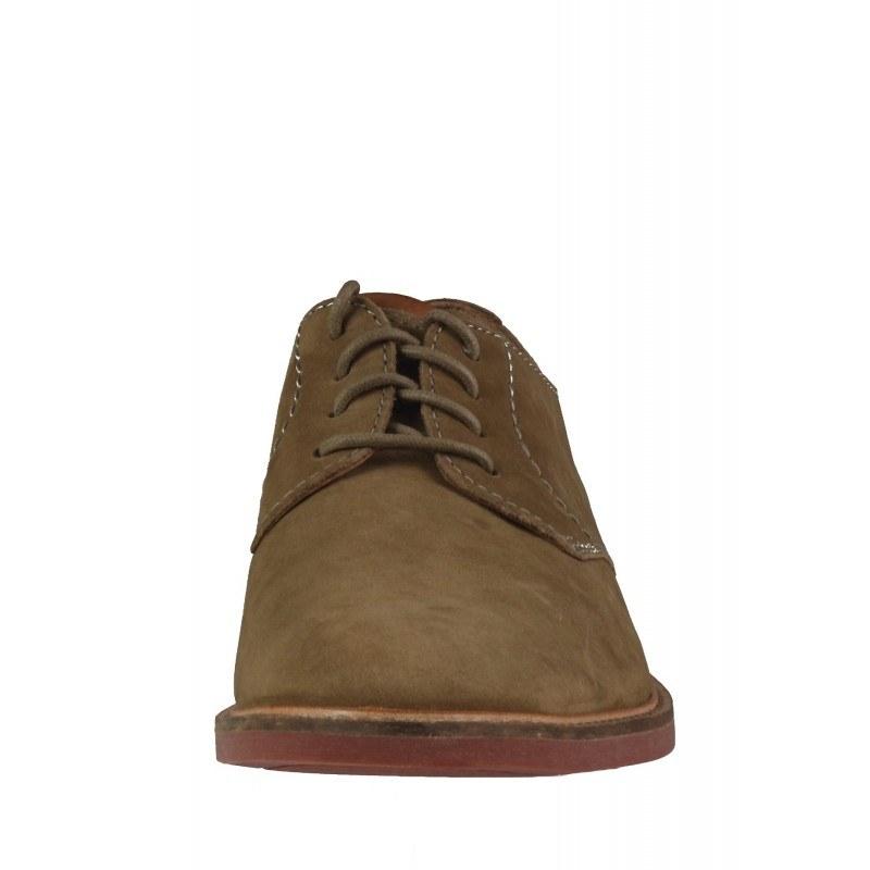 Мъжки елегантни обувки Clarks Atticus Lace бежови естествена кожа