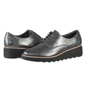 Дамски обувки на платформа Clarks Sharon Noel естествена кожа