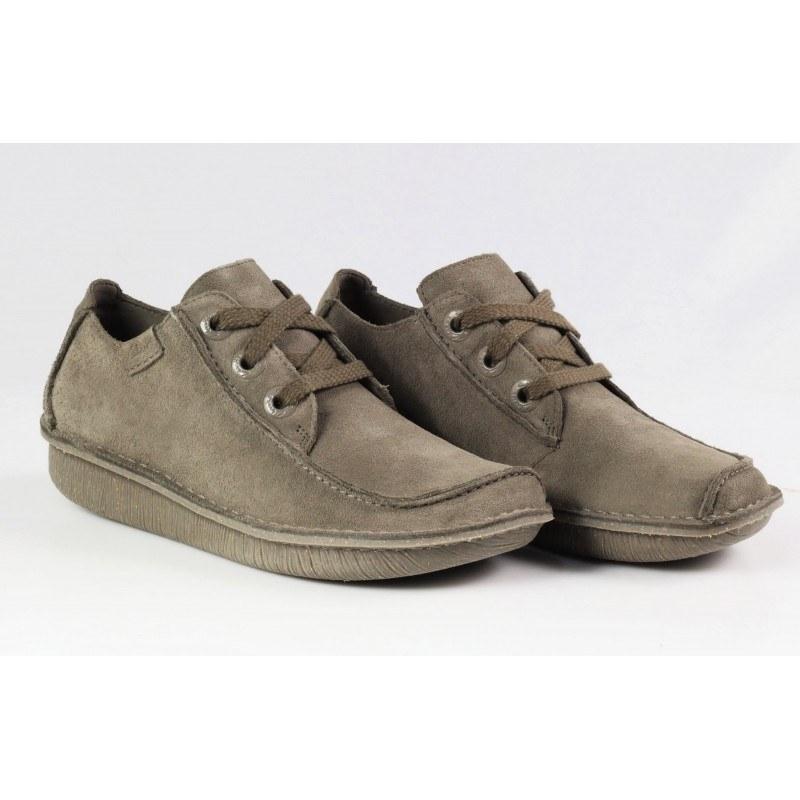 Дамски обувки естествена кожа Clarks Funny Dream sage с връзки