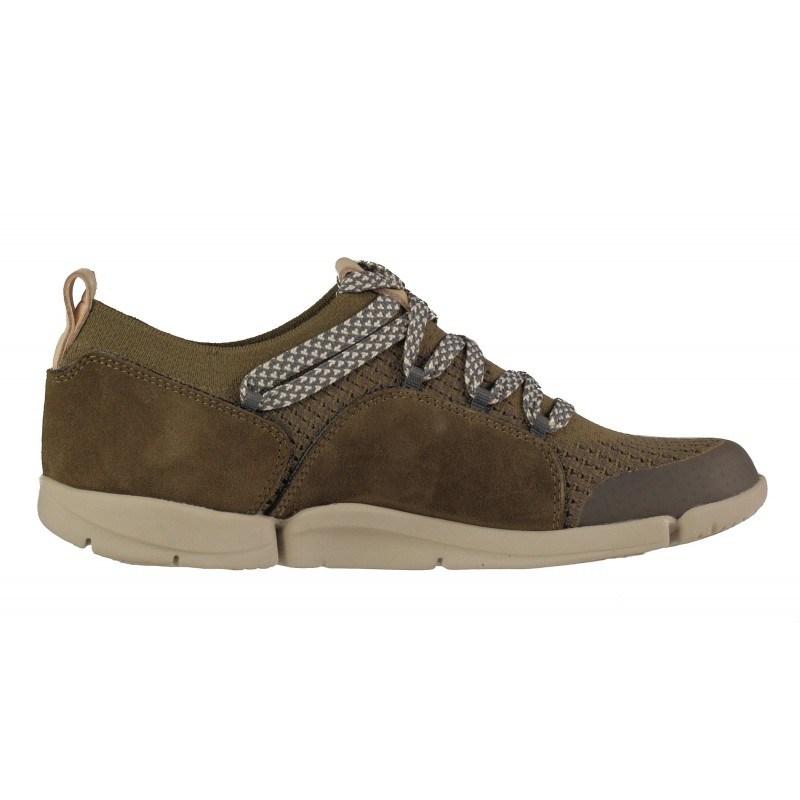 Дамски спортни обувки с връзки Clarks Tri Amelia khaki
